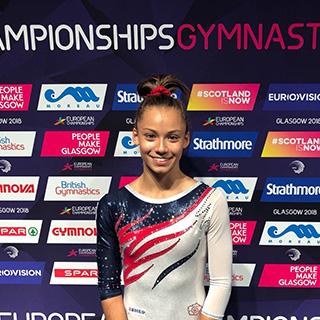 Christina Zwicker kao jedina hrvatska gimnastičarka na Europskom prvenstvu u Glasgowu