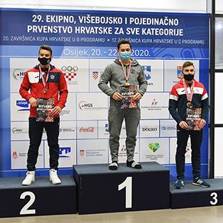 Rezultati A programa 29. Ekipnog, višebojskog i pojedinačnog Prvenstva Hrvatske u sportskoj gimnastici